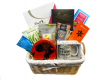 Birthday Flowers and Treats Gift Basket Presented