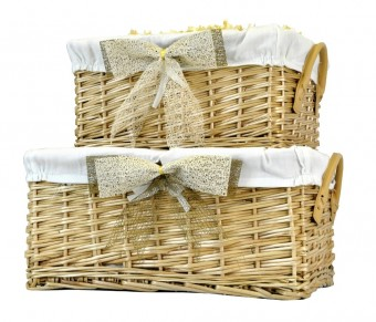 Deep Fabric Lined Gift Basket