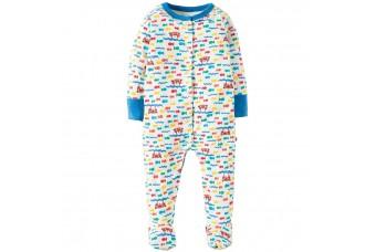 """Frugi """"Otter Splash"""" Babygrow 3-6 months"""