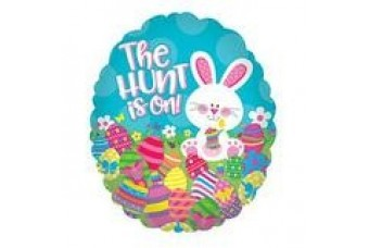 Easter 9'' The Hunt is On Air Filled Balloon