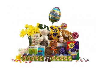 Easter Bunny Gift Basket For 2 Children P1