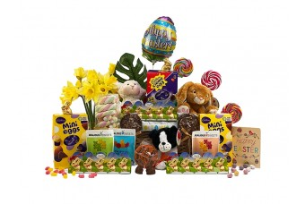 Easter Bunny Basket for 3 Children