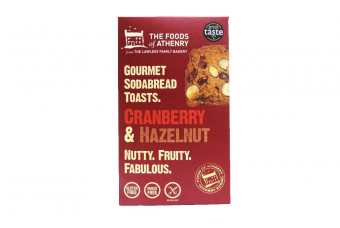 Cranberry & Hazelnut Soda Bread Toasts Gluten Free