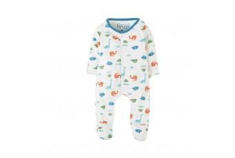 Frugi My First Babygrow - Dinky Dinos 3-6 months