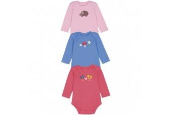 Frugi Organics Baby Girl Bodysuit 3 Pack