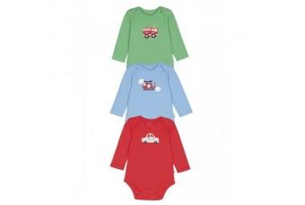 Frugi Baby Boy 3 Pack Bodysuit