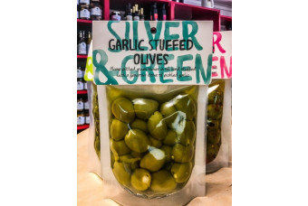 Garlic Stuffed Olives by Silver and Green