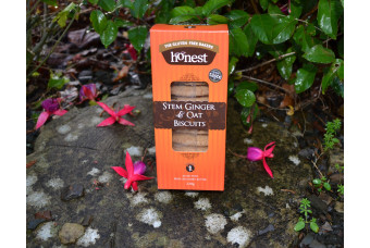 Stem Ginger & Oat Biscuits by Honest Bakery 220g  Gluten Free.