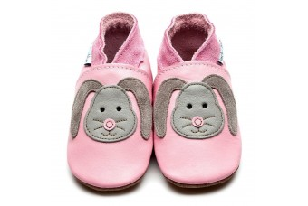 Inch Blue Rag Bunny Baby Pink Baby Leather Shoes (6-12m)