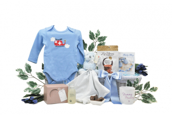 Mummy and Baby Boy Gift Basket