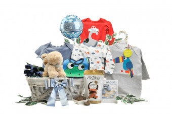 My First Year Baby Boy Gift Basket