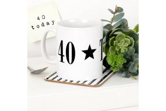 Monochrome Milestone Birthday Mug