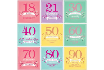 """""""Birthday Age"""" Card For Her"""