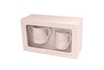 Love Home Mummy & Baby Mug Set Pink