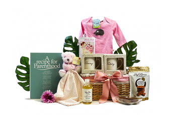 Recipe For Parenthood Baby Girl Gift Basket