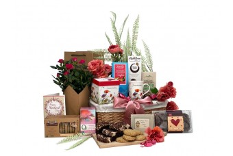 Special Grandma Basket with Flowers Gift Basket