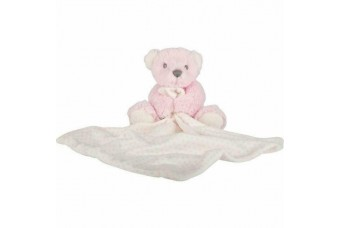 Suki Hug-a-Boo Teddy Bear Blankie Pink