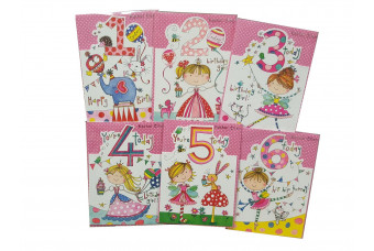 Birthday Card for Young Girl Age 1-6 years