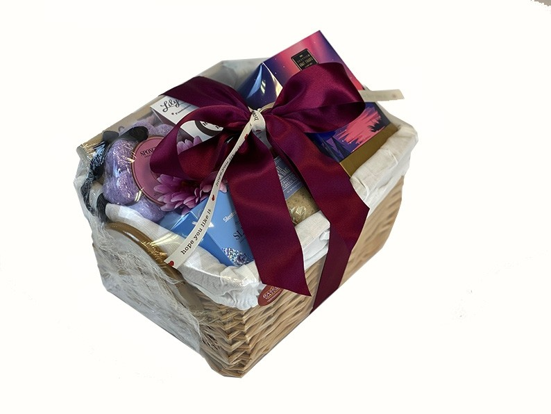 Alternative Therapies For Her Gift Basket Wrapped