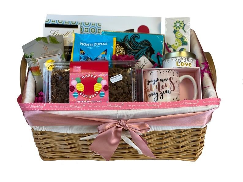 Classic Birthday Basket Presented