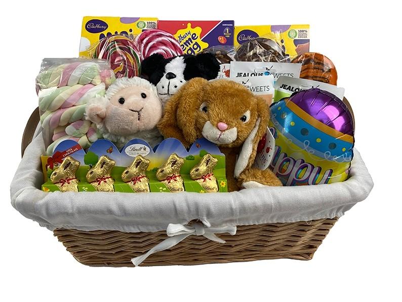 Easter Bunny Basket for 3 Children Packed