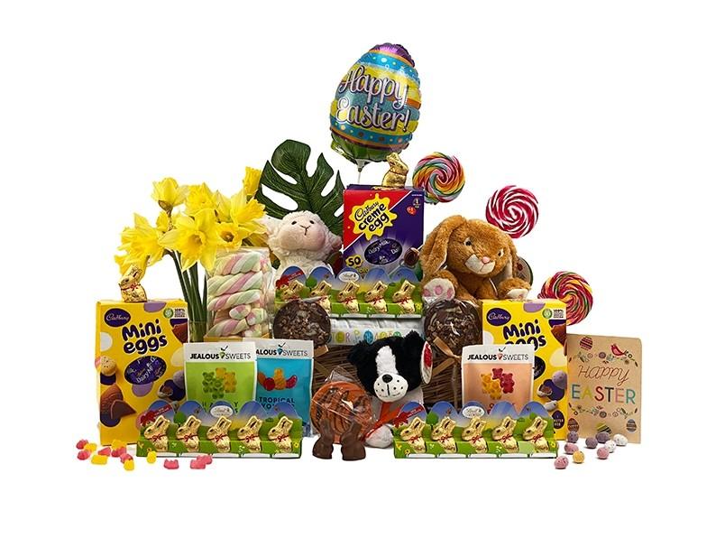 Easter Bunny Basket for 3 Children