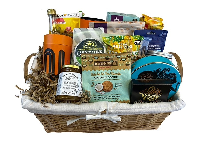 Gluten Free Pastel Delight Gift Basket Packed
