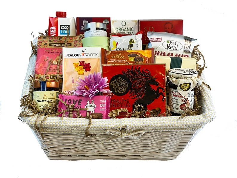 Healthy Feast Gift Basket in the basket