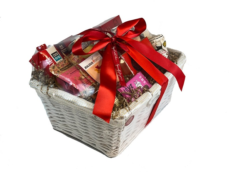 Healthy Feast Gift Basket packed
