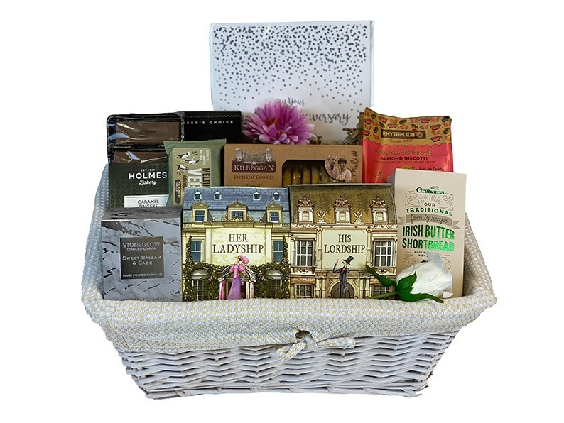 Golden Anniversary Gift Basket Packed