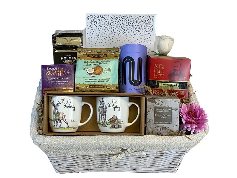 Silver Anniversary Gift Basket Packed