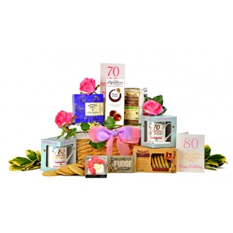 Lady's 70th or 80th Birthday Gift Basket