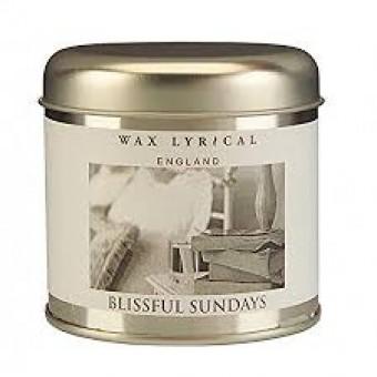 Blissful Sundays Candle Tin By Wax Lyrical