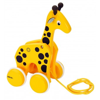 Pull along Wooden Giraffe by Brio Age 12+ months