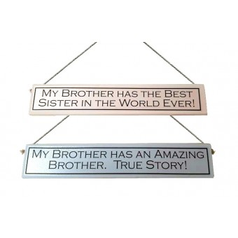 Decorative Wooden Sign for a Brother