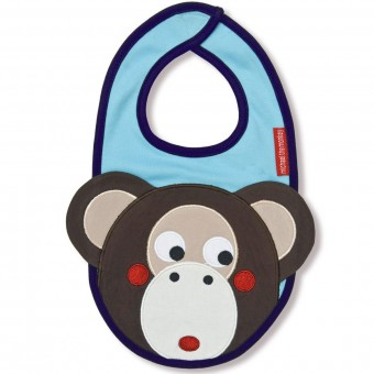 Michael the Monkey Bib by Olive & Moss
