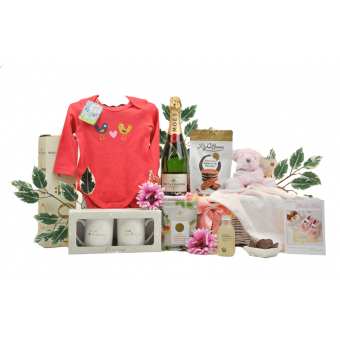 Champagne Parents and Baby Girl Hamper