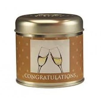 Congratulations Candle Tin By Wax Lyrical