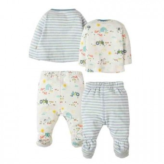 Frugi My First 4 Piece Set Baby Boy 3-6m