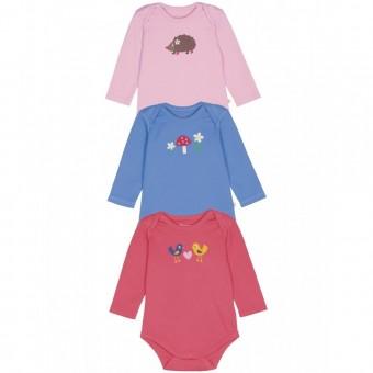 Frugi Baby Girl 3 Pack Bodysuit (0-3m)