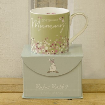 Gorgeous Mummy China Gift Mug by Rufus Rabbit