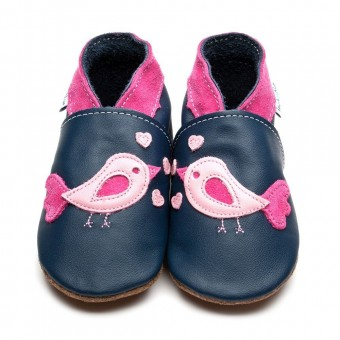 "Inch Blue ""Bird d' Amour"" Baby Leather Shoes (6-12m)"