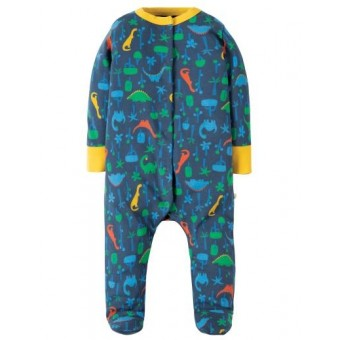 "Frugi ""Jurassic Jungle"" Boys Babygrow (3-6m)"