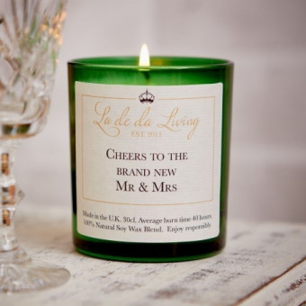 """""""Mr & Mrs"""" Candle"""