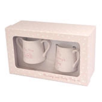 Mummy & Baby Mug Set Pink