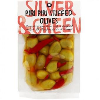 Piri Piri Stuffed Olives 220g by Silver and Green