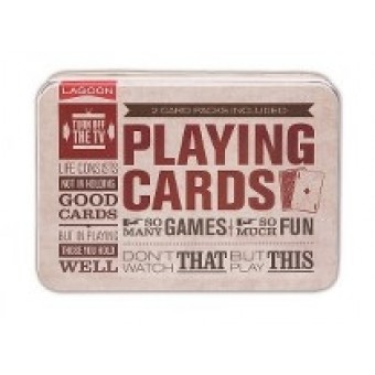 Playing Cards in a Tin by Lagoon Games