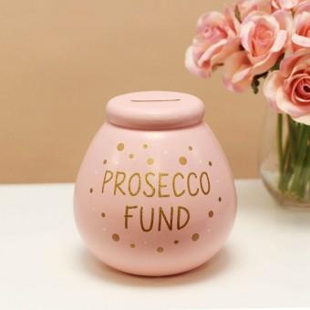 """Prosecco Fund"" Ceramic Money Pot"