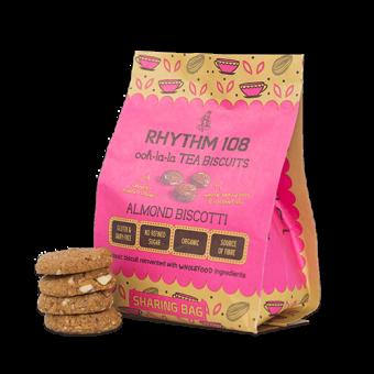 Rhythm 108 Ooh-la-la Tea Biscuits Almond Biscotti Sharing Bag 135g