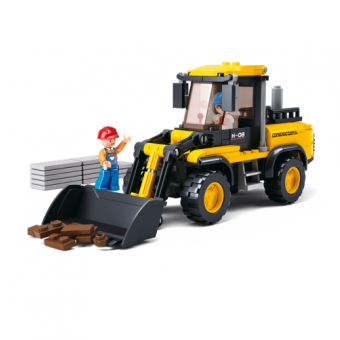 Wheel Loader Construction Set from the Sluban Town Series